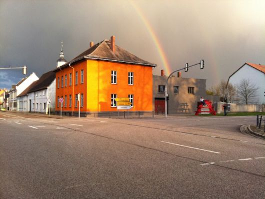 Het gebouw van Ampelhaus in Oranienbaum. Use it Again