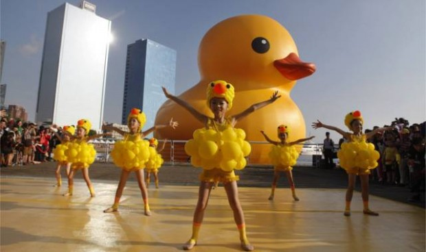 Florentijn Hofman, Rubber Duck, Taiwan, Kunstbeeld