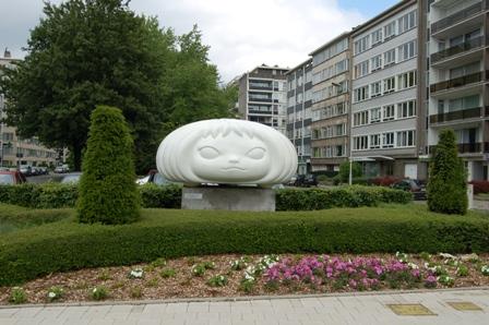 puff marshie, antwerpen, 100% expo, yoshitomo nara, http://www.carreconfiture.be/meneertjeconfituur/2007/05/17/kunst-in-de-straat/